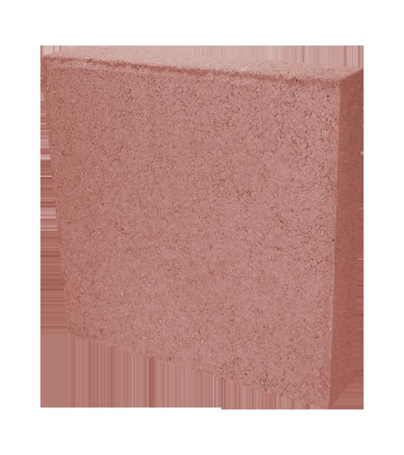 Baldosa roja * 6.26 piezas por metro cuadrado * Medidas: 8X40X40 cms * Recomendado para diseñar y dar vida a tu jardín o cochera