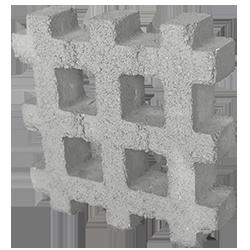 Adopasto gris * 7.3 piezas por metro cuadrado * Medidas: 8X37X37 cms * Peso aproximado 13 kg * Recomendado para diseñar y dar vida a tu jardín
